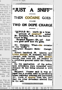 """""""JUST A SNIFF""""1927, January 12 Evening News Sydney p. 7."""