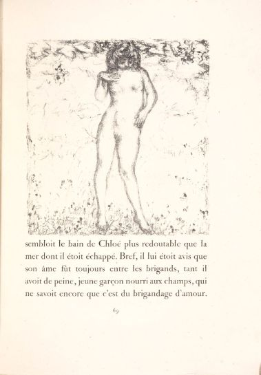 Pierre Bonnard (c.1902) Illustration for Longus' Daphnis and Chloe, published by Vollard, 1902, lithograph.