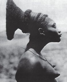 Herbert Lang Head binding - Nobosodrou, a Mangbetu woman in the Belgian Congo