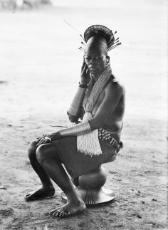 Portrait of Nemali, Okondo's 3rd wife, Mangbetu peoples, Democratic Republic of the Congo