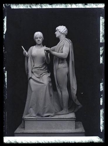 carlos-ducoin-tableau-vivant-1900-1914-ca-glass-negative
