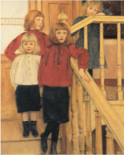 Fernand Khnopff, Portrait of Monsieur Neve's Children 1893