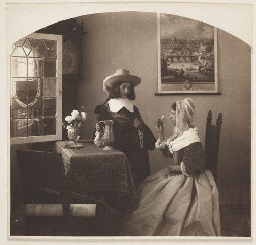 guido-rey-costume-scene-1910-ca-platinum-print