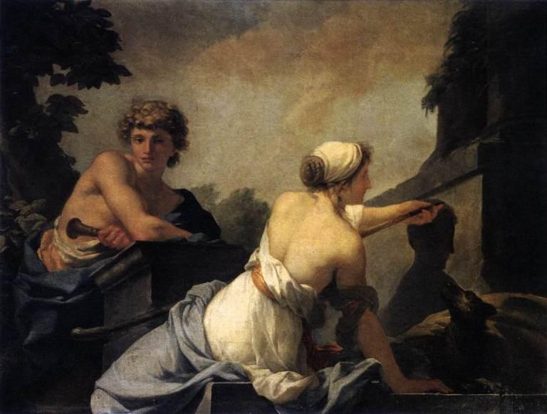 jean-baptiste-regnault-origin-of-painting-1785