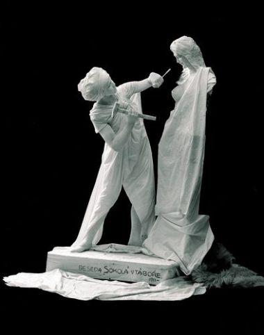 Studio of Josef Jindrich Sechtl and Ignac Sechtl 1911 'Live statue'.