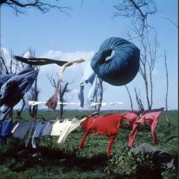 Laundry flapping, Scheveningen (1950-1960)