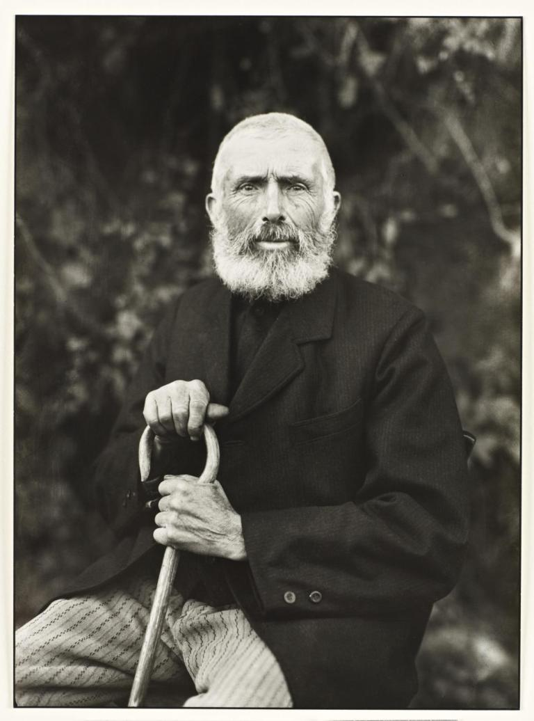 The Man of the Soil 1910, printed 1990 by August Sander 1876-1964