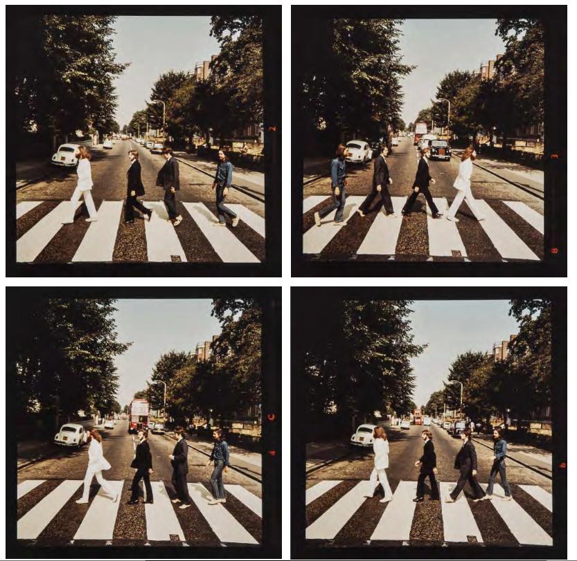The Beatles Poster Abbey Road 3D Framed Lenticular 20x25cm