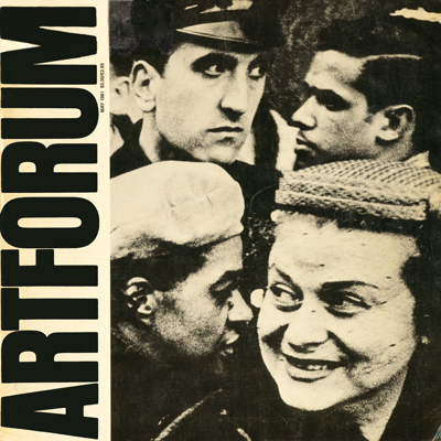 William Klein: cover of ARTFORUM May 1981 - ARTICLE - William Klein and the Radioactive Fifties BY Max Kozloff