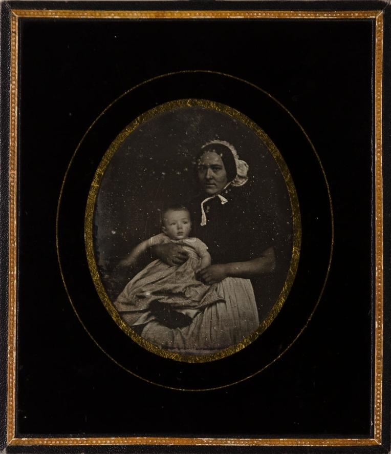 Carl Ferdinand Stelzner (1857) Emil Stelzner (1859-1905) mit der Kinderfrau Anna, 1857.jpg