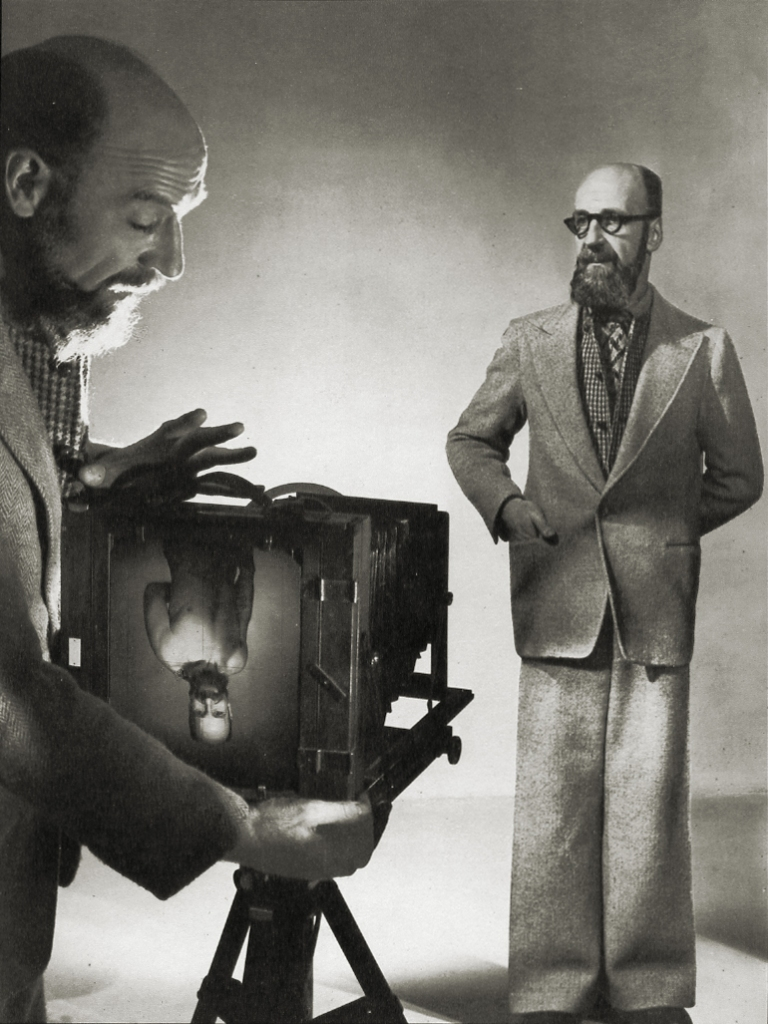 angus-mcbean-self-portrait-vintage-bromide-print-1953-mounted-to-thin-card-inscribed-%22love-angus-%22