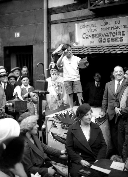 Inauguration Of The Academy For Children In Montmartre 1932