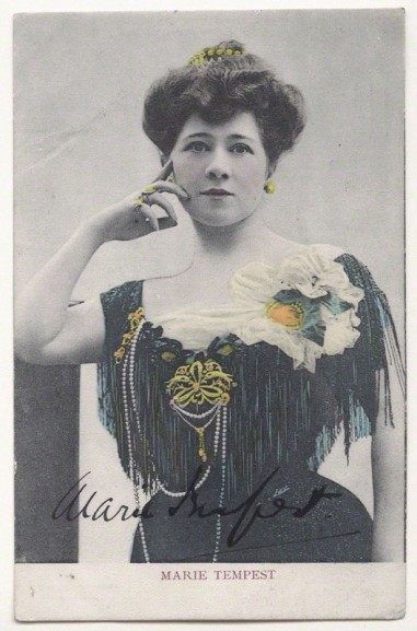 Actress Marie Tempest by Lallie Charles