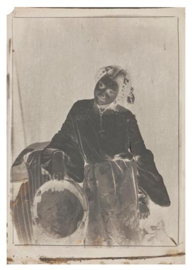 Julien Valllou de Villeneuve (1852 ) Jeune femme au tambourin paper negatives.