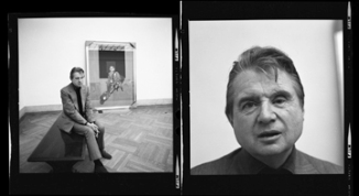Harry Benson (1975) Francis Bacon at the Met