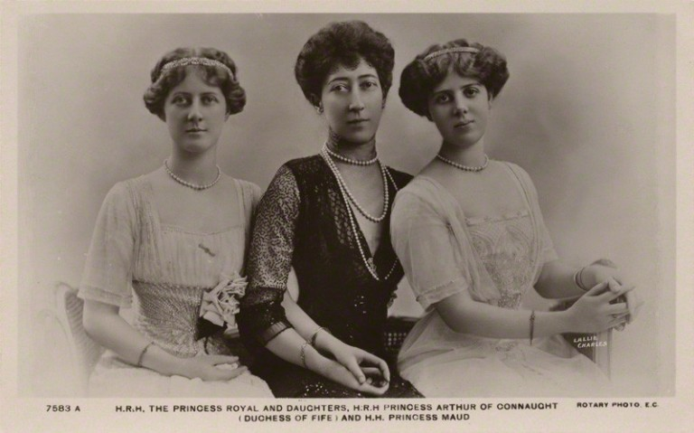 NPG x47143; Princess Louise, Duchess of Fife and her daughters by Lallie Charles (nÈe Charlotte Elizabeth Martin), published by  Rotary Photographic Co Ltd