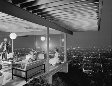 Julius Shulman 1960 Pierre Koenig's Case Study House 22, Stahl House, Los Angeles.