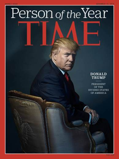 Time Magazine named President-elect Donald Trump the 2016 Person of the Year.