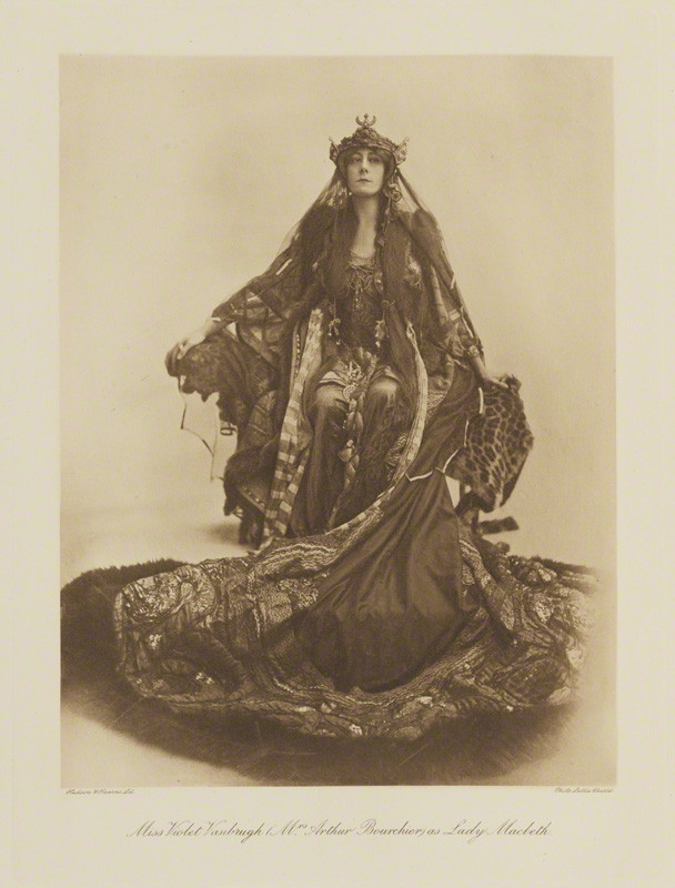 NPG Ax135795; Violet Vanbrugh (Violet Augusta Mary Barnes) as Lady Macbeth in 'Macbeth' by Lallie Charles (nÈe Charlotte Elizabeth Martin), published by  Hudson & Kearns Ltd