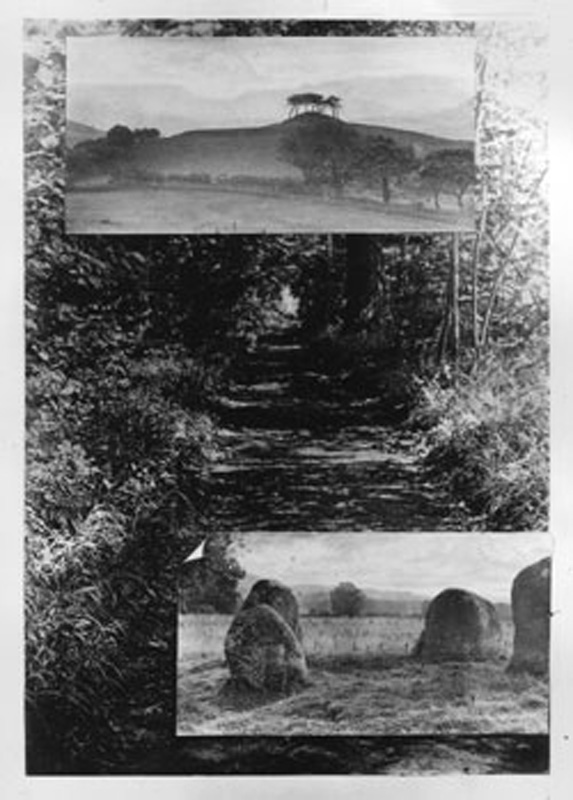 alfred-watkins-collage-of-black-and-white-photographs-published-as-frontispiece-of-alfred-watkins-early-british-trackways-1921