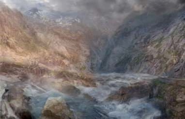 Hiroyuki Masuyama (2015) J.M.W. Turner, The pass of St. Gotthard, LED Lightbox, 91x142x4cm