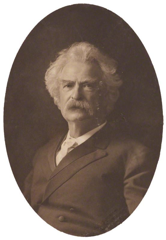 NPG P1700(84a); Mark Twain by Henry Walter ('H. Walter') Barnett