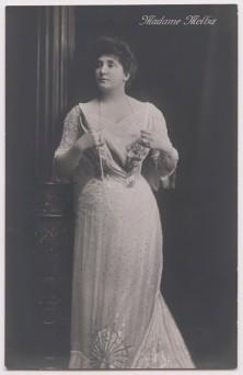 Henry Walter ('H. Walter') Barnett portrait of Nellie Melba, bromide postcard print, 1902, published 1914 or after