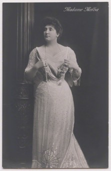 Henry Walter ('H. Walter') Barnett portrait of Nellie Melba, bromide postcard print, 1902, published 1914 or after