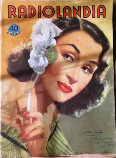 Annemarie Heinrich (1950) Radiolandia cover portrait of Tita Merello