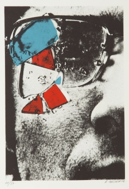 Roman Cieslewicz (n.d.) untitled 3 colour serigraph.
