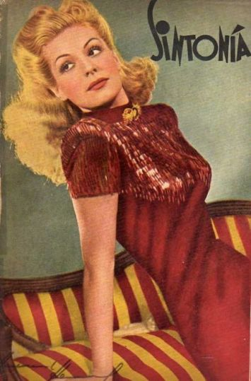 Annemarie Heinrich (c.1940s) Cover portrait of Zully Moreno for Sintonia