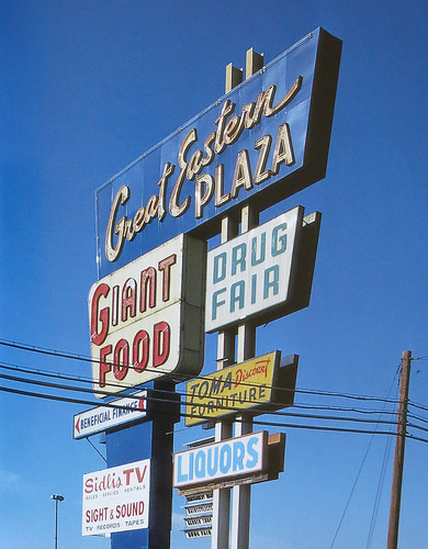 great-eastern-plaza-sign-maryland-photograph-by-richard-longstreth-1971