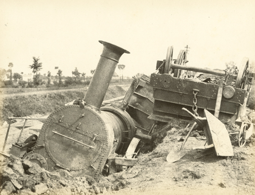 hugh-owen-derailed-train-on-the-bristol-exeter-line-albumen-print-1860s-1870s-from-a-paper-negative-before-1855-17-4-x-22-5-cm