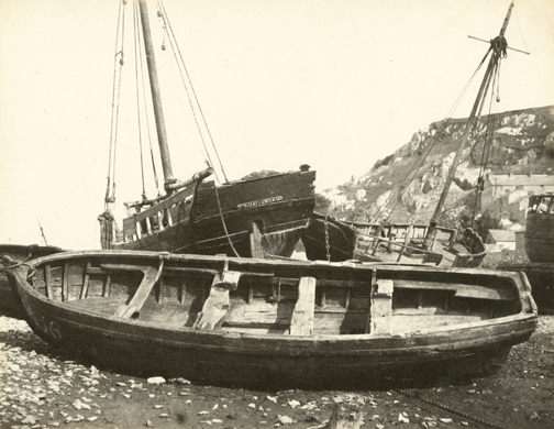 hugh-owen-oyster-boats-%22wm-jane-of-swansea%22-albumen-print-1860s-1870s-from-a-paper-negative-before-1855-17-2-x-22-3-cm