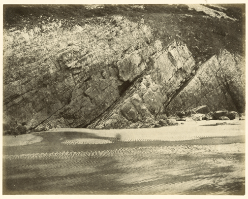 hugh-owen-sandy-shore-possibly-caswell-bay-gower-albumen-print-1860s-1870s-from-a-paper-negative-before-1855