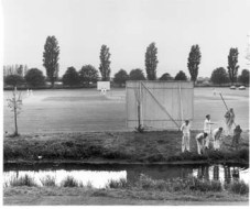 Fay Godwin (1981) Cricket at Sandwich.