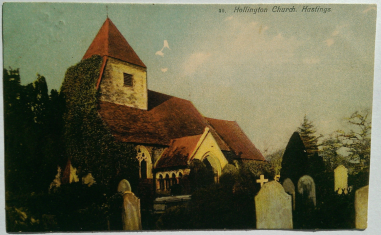 Fred Judge (c1906-07) Postcard #30 Hillington Church, Hastings