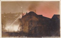 Fred Judge (1909) the great fire in Waterworks Road, Hastings, in January 1909.