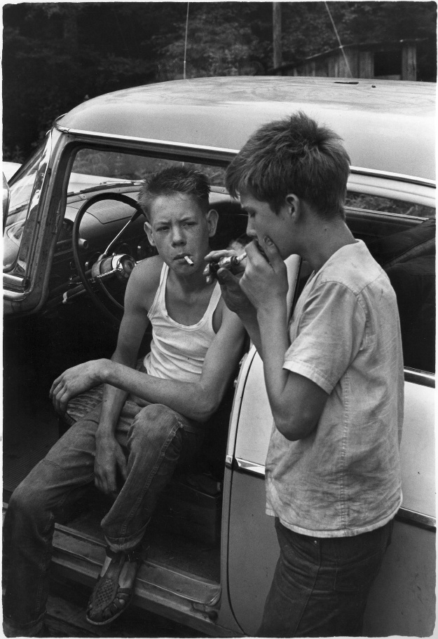 two-boys-smoking-in-car-1964