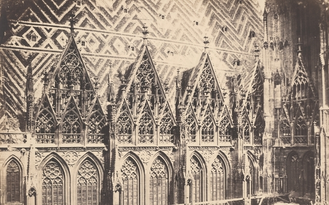 Andreas Groll, new shields on the southern facade of St. Stephen's Cathedral in Vienna 1855
