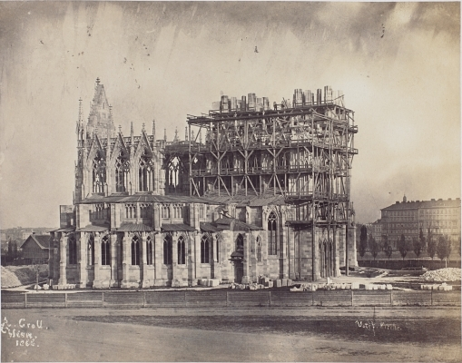 Andreas Groll, the construction of the Votive Cathedral in Vienna, 1866