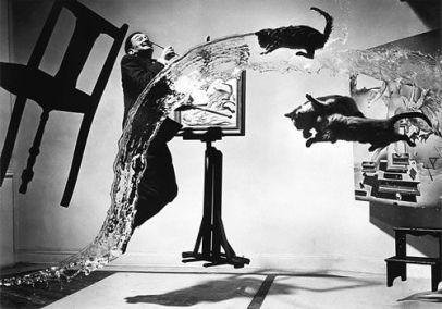 Phillipe Halsman (1948) Dali Atomicus, retouched