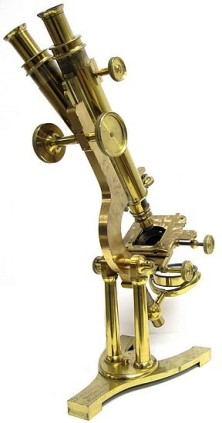 J.B. Dancer Optician No. 371 Manchester Wenham binocular microscope, c. 1863