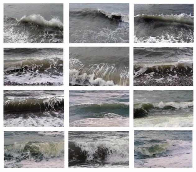 Jacqueline Salmon, Vagues, Le Havre, 2012-2016, épreuve pigmentaire, chaque photographie 21 x 31,5 cm