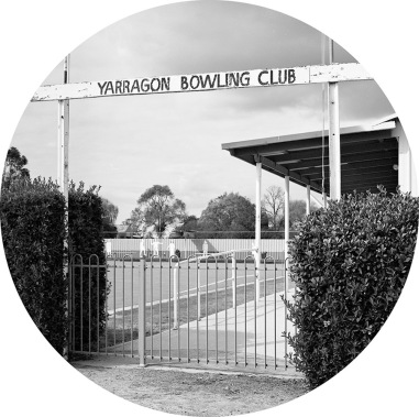 Jane Brown (2016) Bowling club, Yarragon, selenium toned, fibre-based gelatin silver print, 18cm diameter
