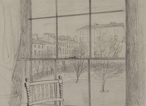 John Herschel View from the Hotel Window, Leamington, Warwick, March, 1829 1829, March Camera Lucida drawing