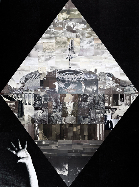 Lillian O'Neil, Mirage, 2017, collage on Dibond, framed, 269.00 x 203.00 x 6.50 cm