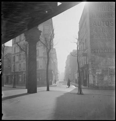 Marcel Bovis (1937) Brouillard (Fog) Métro aérien boulevard Garibaldi
