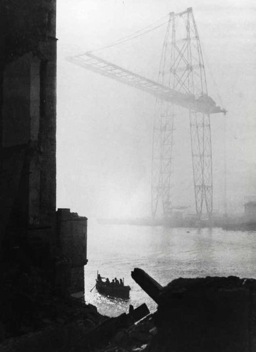 Marcel Bovis La pont Transbordeur au Fort Saint-Jean, Marseille
