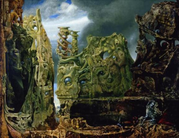 Max Ernst, L'oeil du silence (The Eye of Silence), 1943–44.